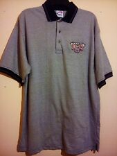 86th Indianapolis 500 Polo Shirt 2002 mai 26 Gris Noir Taille L/XL Cadre Athletic