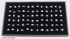 Black Display Tray With 72 Slot Black Jewelry Travel Ring Insert Display Pad