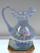 DON Fenton PITCHER Misty Blue Oplscent Irid IRISES 1997 #d 5440LS MIB FREEusaSHP