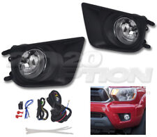 OE STYLE FOG LIGHTS PAIR CLEAR LENS LAMPS SWITCH HARNESS FOR 12-15 TOYOTA TACOMA