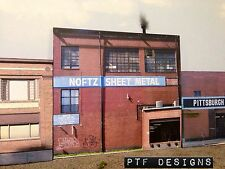 "*O Scale Scratch Built ""Noftz Sheet Metal"" Pittsburgh Building Front MTH Lionel*"