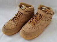 Youth Sz 1.5Y Flax Wheat Nike Air Force 1 MID WB PS Leather Sneakers AH0756 d0e4fa4f2
