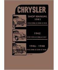 Factory Shop - Service Manual for 1941-1948 Chrysler