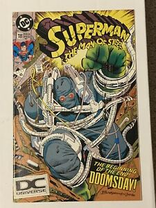 Superman Man of Steel 18 VF/NM First Doomsday 5th Print DC Universe Variant RARE