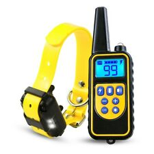 2600FT Remote Dog Shock E Collar Anti Bark Training Rechargeable Waterproof IP67