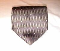 Mulberry Neckwear Ziggurat Mens Necktie Tie Brown Gold Geometric 100% Silk