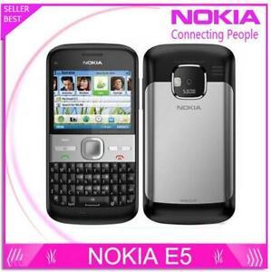 """Nokia E5 Unlocked 3G network WIFI GPS Mobile Phone 5MP Camera 2.4"""" Original"""
