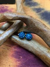 Earrings, stone shambala