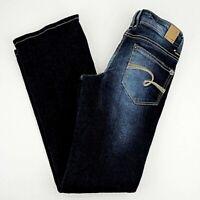 Justice Jeans Dark Boot Cut Denim Sz 10 1/2  10.5 Blue Pocket Zip Girls Worn 1x