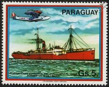 MS SCHWABENLAND Catapult Ship & Lufthansa DORNIER Do.18 Seaplane Aircraft Stamp