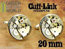 GEMELOS Steampunk 20mm - Movimientos reloj mecanismos - Retro Vintage