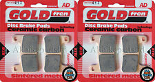 SUZUKI GSXR 1000 K4 2004 > SINTERED FRONT BRAKE PADS (2 pair) *GOLDFREN*