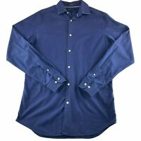 Banana Republic Men's Large Long Sleeve Button Down Blue Grant Fit
