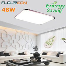 48W LED Ceiling Light Flush Mount Kitchen Bathroom Lamp Home Fixture w/Remote US