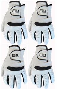 4 Back to Back 100% Cabretta Leather Gents Mens Golf Gloves 5 Sizes