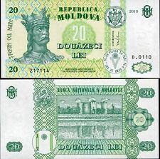 MOLDOVA 20 LEI 2010 P 13 UNC