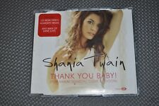 """Shania Twain """"Thank You Baby"""" Almighty ver. & Any Man live UK CD + now w/gift"""