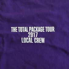 "New Kids On The Block Rare Local Crew ""Total Package Tour"" Shirt - purple - Xl"