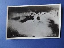WAR POSTCARD REAL PHOTO A FOC'STLE FLOOD WATER ON DECK MOSER SHIP BOAT MILITARY