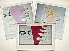 10 x Serviettenklammer Tischkarte Fisch Kommunion Konfirmation Taufe Hochzeit