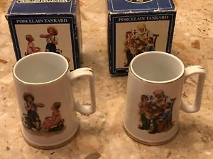 Vintage 1986 Norman Rockwell Classic Tankard Collection Mug