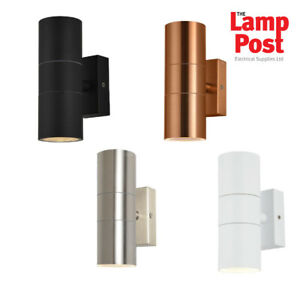 Forum Leto Up & Down IP44 Outdoor Garden Wall Light - Choice of Colours