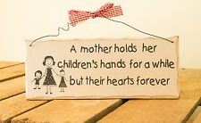 Wooden Wall Plaque Mother and Children - Mother's Day Gift