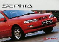 Kia Sephia Prospekt 1997 brochure Auto Autoprospekt Broschüre folheto broschyr