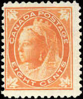 1897 Mint NG Canada F Scott #72 8c Queen Victoria Issue Stamp