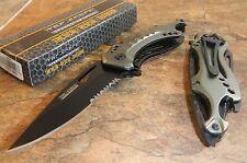 TAC-FORCE Speedster Assisted Opening GUN METAL GRAY Bottle Opener Knife NEW!