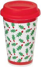 Festive Xmas Christmas Holly Travel Mug