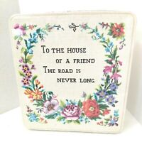 Vintage Tin To The House Of A Friend Monday's Child