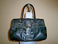 Coach Soho Black Stitch Detail Leather Satchel Handbag #F10913