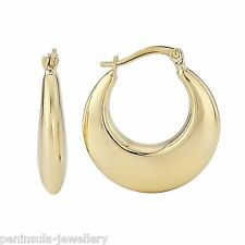 Premium 9ct Gold Creole Hoop earrings (20mm), Gift Boxed Hallmarked