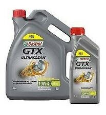 N.1x5 confezione di Olio Motore Castrol GTX Ultra Clean 10W-40 A3/B4 5 Lt