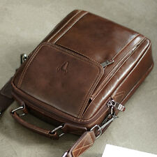 Mens Leather Messenger Cross body bag Pack Briefcase Womens Cross bag