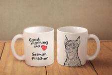 """Deutscher Pinscher - ein Becher """"Good Morning and love"""" Subli Dog, CH"""