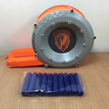 Nerf N-Strike Elite Gun 35 Round Drum Ammo Magazine Clip 10 New Bullets