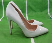 """NEW LADIES Womens White 4.5""""Stiletto High Heel Pointy Toe Sexy Shoes Size 8"""