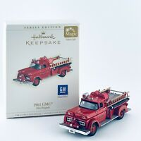 HALLMARK KEEPSAKE 1961 GMC FIRE ENGINE FIRE BRIGADE MAGIC ORNAMENT NO 4 DIE CAST