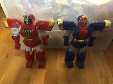 Power Ranger Zeo red and blue ninja zords megazord