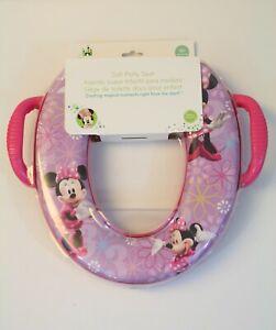 Disney Minnie Mouse Soft Potty Training Seat Flowers Pink Purple 18+ Months