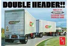AMT Double Header Tandem Van Trailers New