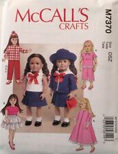 McCall 's Child Doll Clothing Sewing Patterns