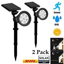 2x Lampe Solaire LED Avec Détecteur de Mouvement Pir Projecteurs Jardin Pointe