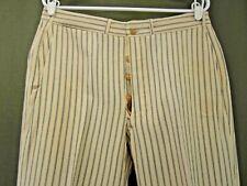 1920s-1930s Vintage Cream Pinstripe Pants