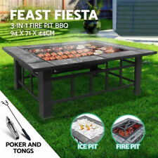 3 in 1 BBQ Table Grill Yakitori Barbecue Charcoal Outdoor Cooking Eating