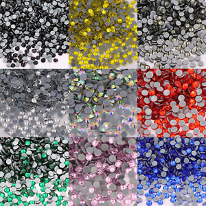 Clear Hotfix Rhinestones Glass Strass Iron On Hot fix Crystal For Fabric Garment
