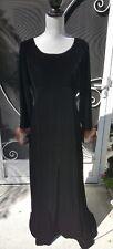 Maxi Bernie Bee NY Velvet & Black Fur Cuff Vintage Dress