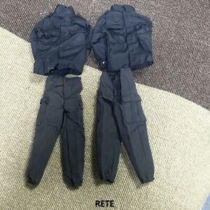 2 Suits 1:6 Scale Black SWAT Uniform Suits For 12'' GI Joe Ultimate Soldier Toys